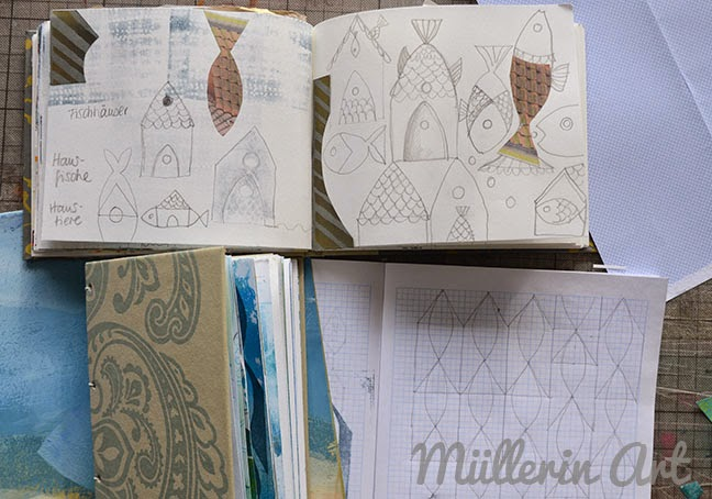 Skizzenbuch Fischhäuser, Müllerin Art