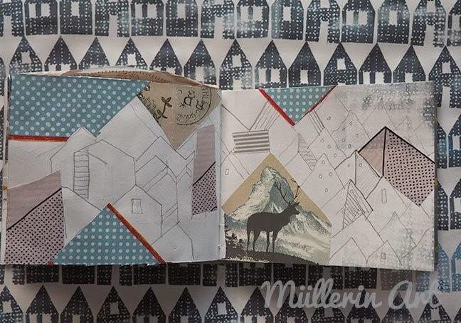 Häuser-Muster-Skizzenbuch-Müllerin Art