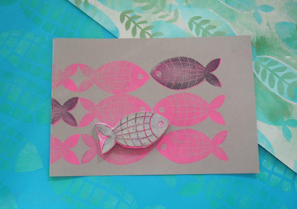 Karierter Fischstempel ©muellerinart