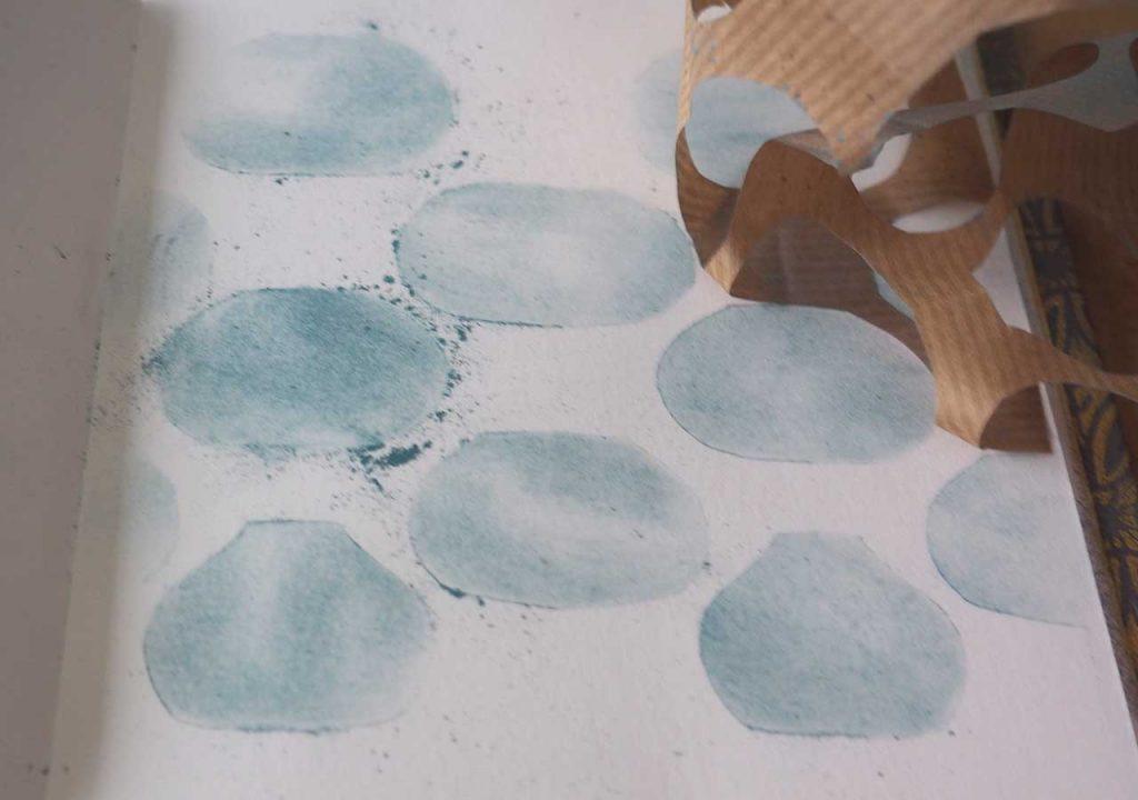 Goldfischmuster im Skizzenbuch nach ©muellerinart