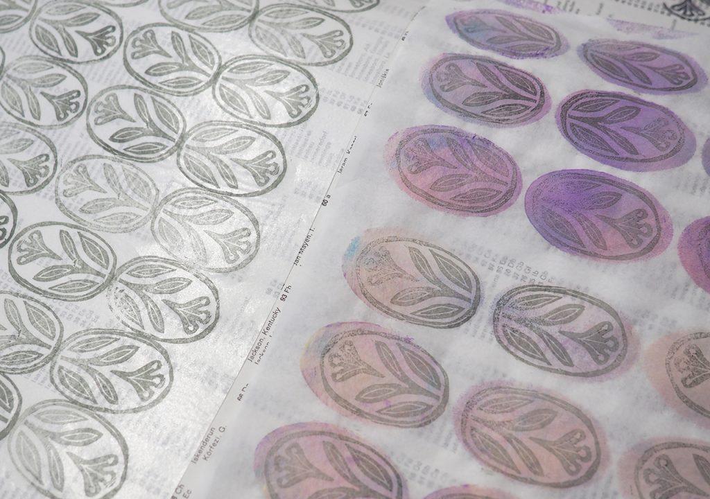 Seidenpapier-Druck nach ©muellerinart
