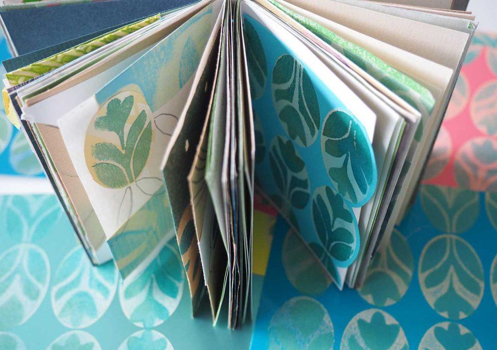 Frühlingshafte Oval-Muster im Skizzenbuch nach ©muellerinart