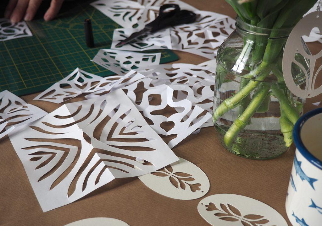 Scherenschnitt-Musterentwürfe nach ©müllerinart