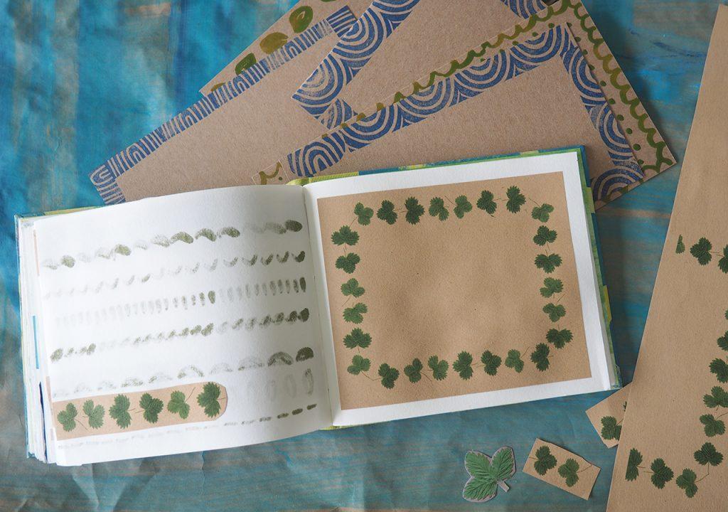 Erdbeerblätter-Bordüren  nach ©muellerinart