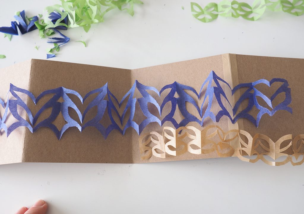 Zick-Zack-Scherenschnitt Bordürenmuster nach ©muellerinart
