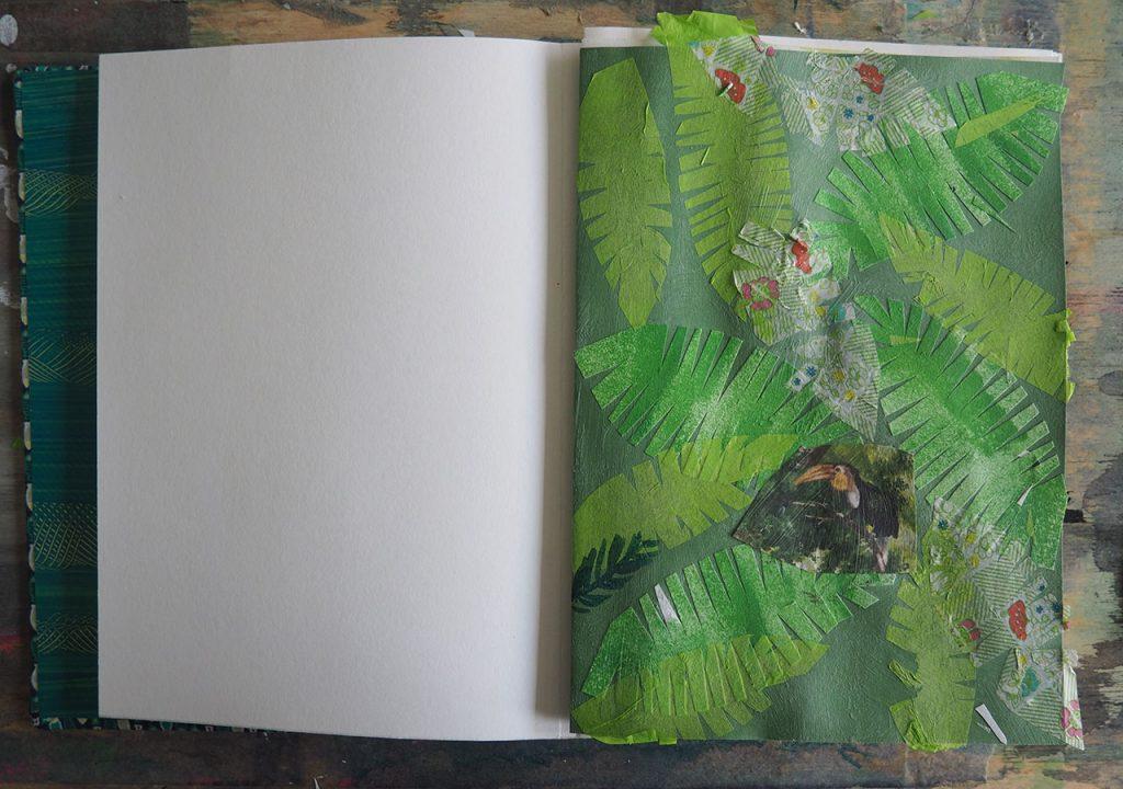 Skizzenbuch Scherenschnitt-Blätter nach ©müllerinart