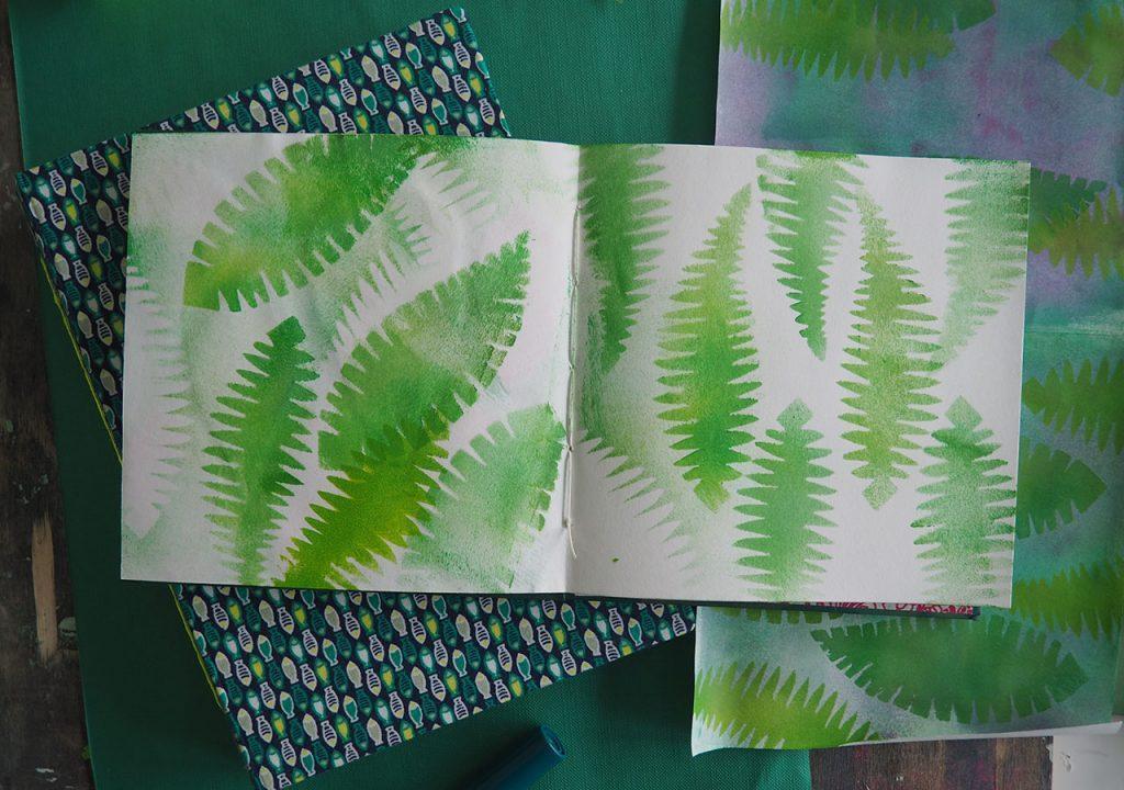 tropische Muster im Skizzenbuch nach ©muellerinart