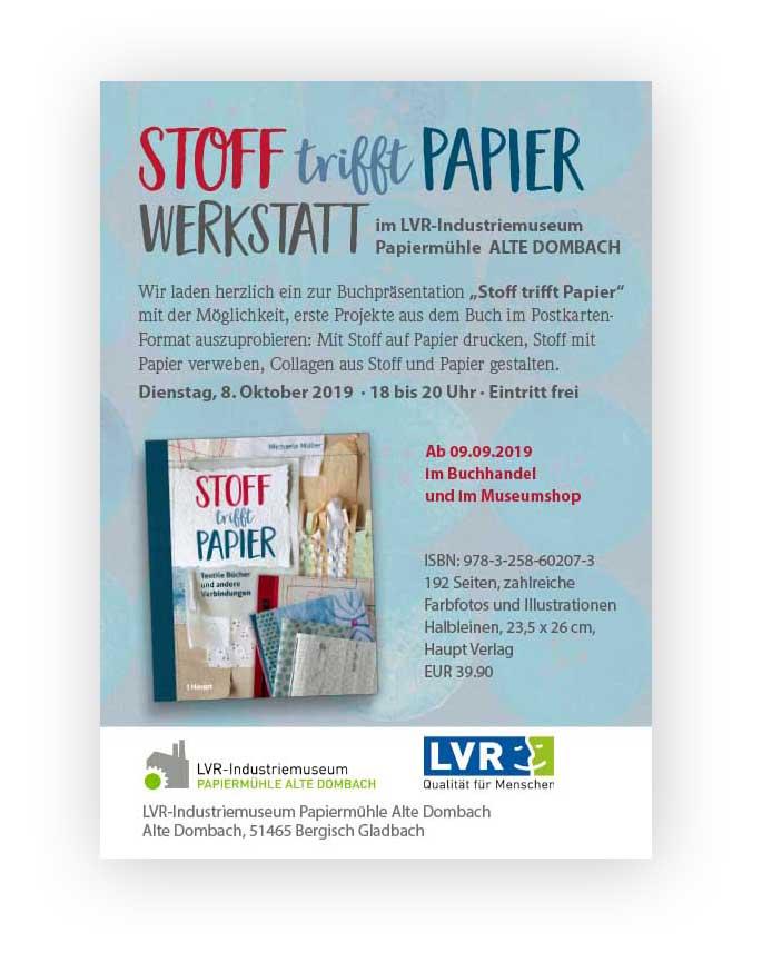 Stoff trifft Papier Werkstatt ©muellerinart