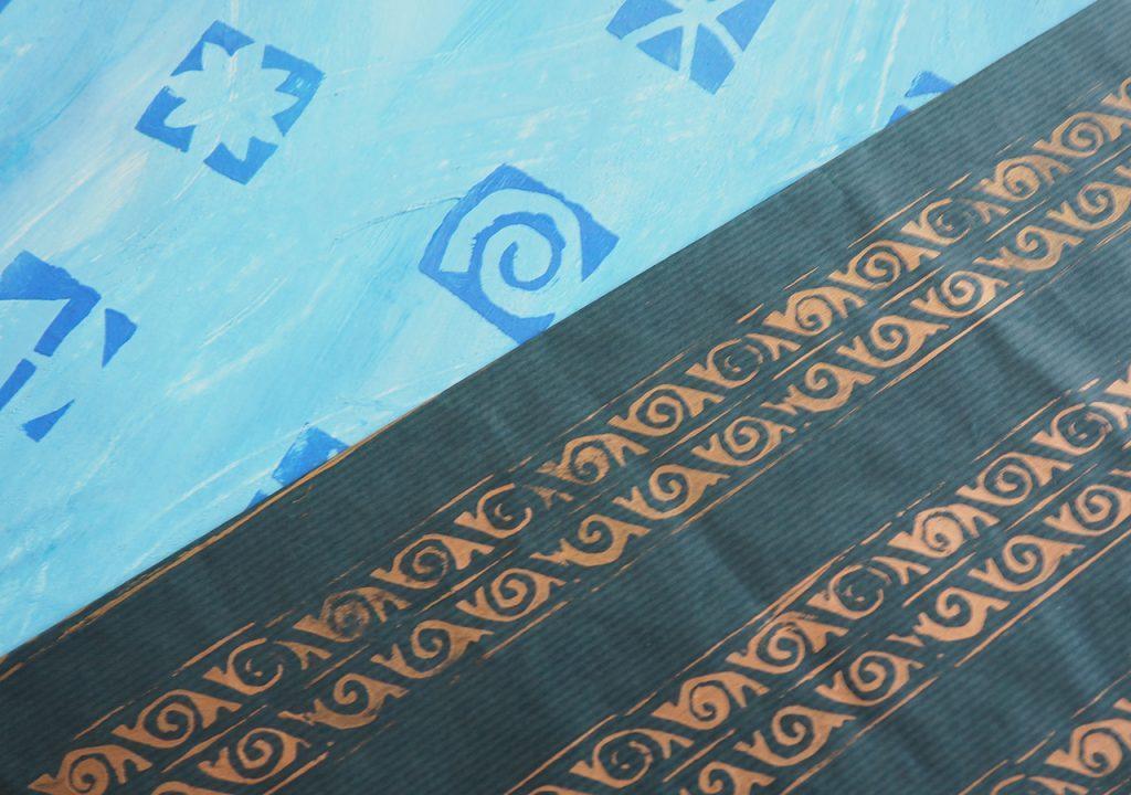 Spiral-Schablonendrucke ©muellerinart