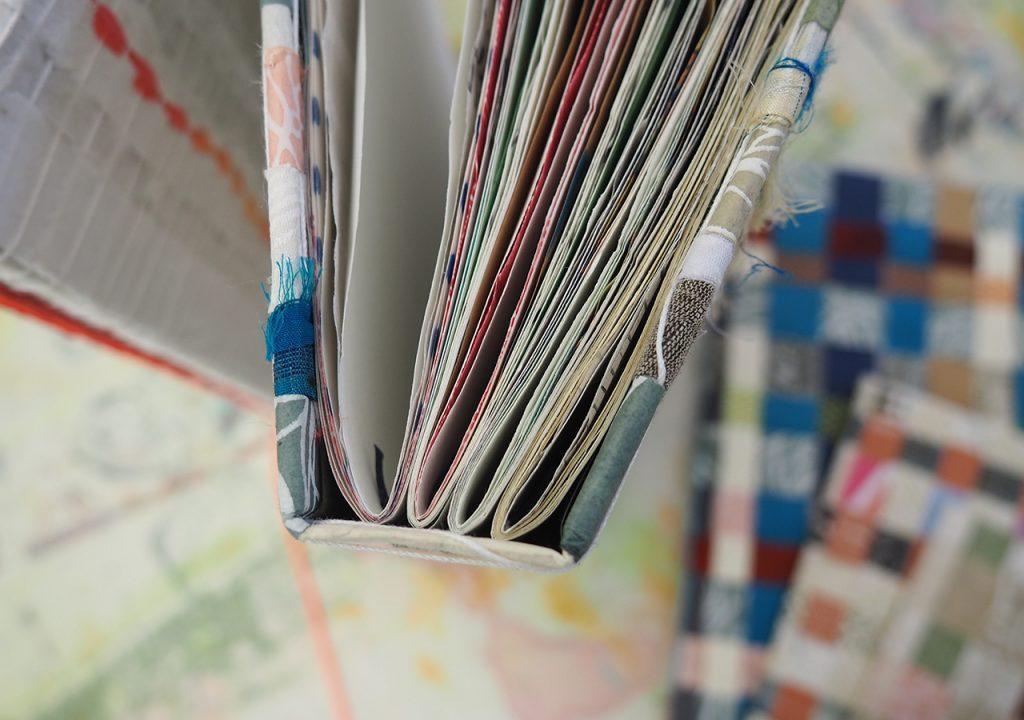 """Gewebebücher """"Stoff trifft Papier"""" ©muellerinart"""
