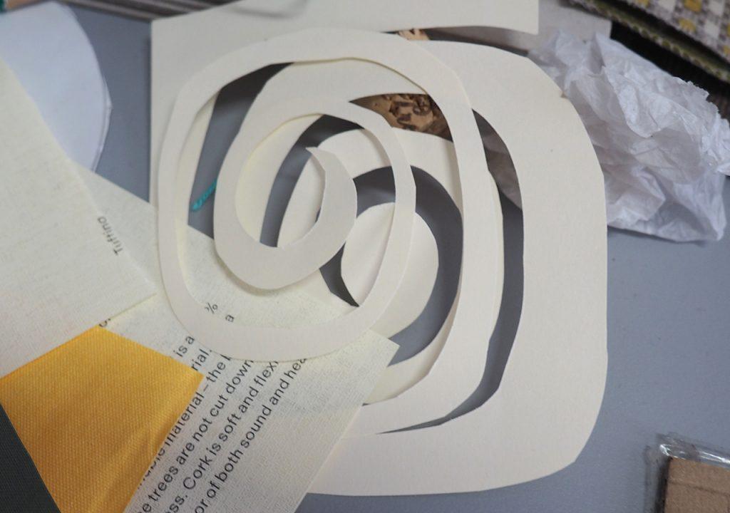Spiralen Schablone nach ©muellerinart