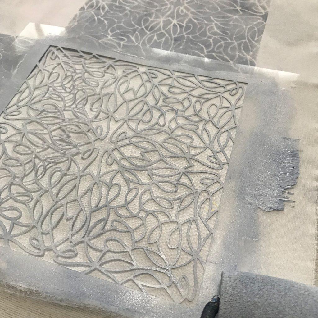 Schablone weiss und linie nach ©muellerinart