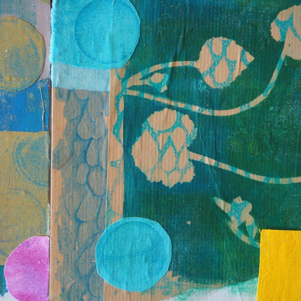 Collage zweihändig, Brigitte Balser, MIchaela Müller ©muellerinart