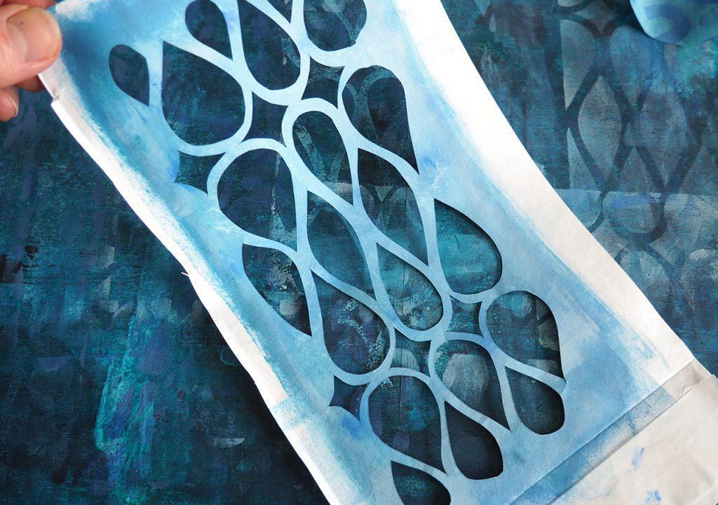 Schablonendruck im Müllerin Art Studio ©muellerinart