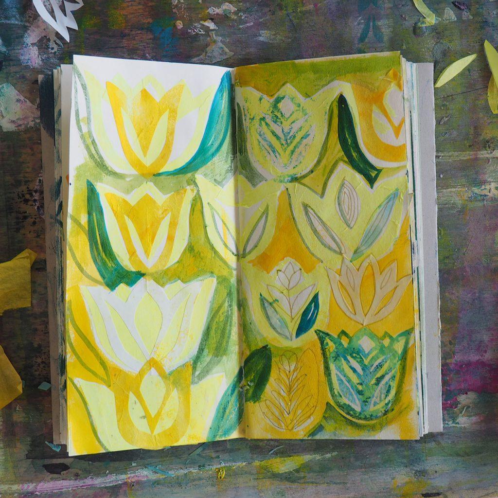 Schicht und Tulpe ©muellerinart