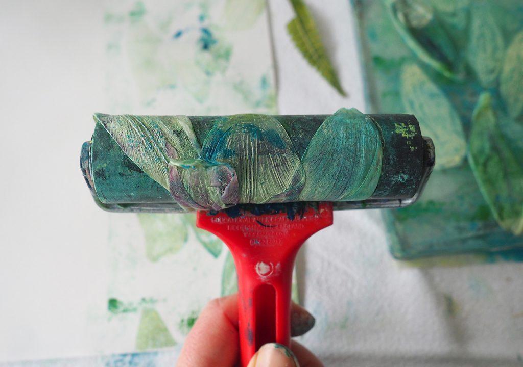 Gelliprint Tulpendruck ©muellerinart
