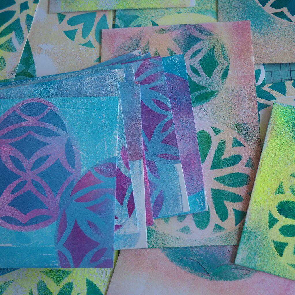Osterpostkarten im Schablonendruck ©muellerinart