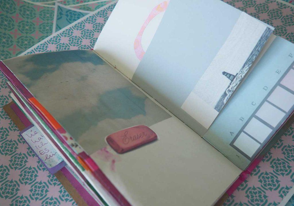 Skizzenbuch Pink + Fläche nach ©muellerinart