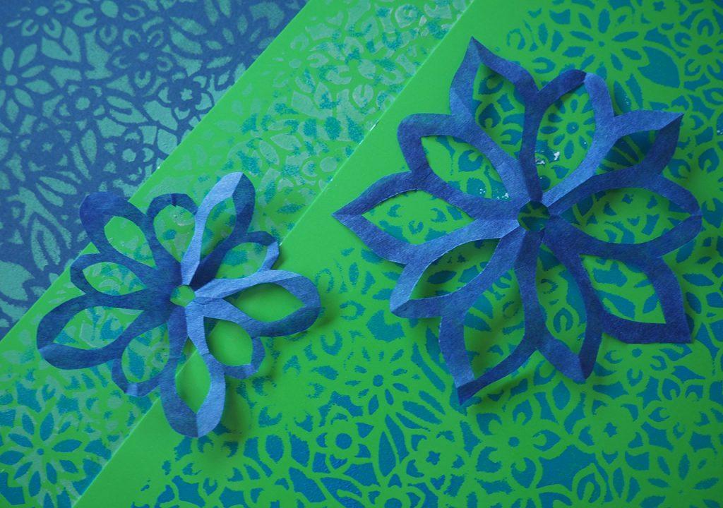 Kirschblüten-Muster Schablonendruck ©muelleriartstudio