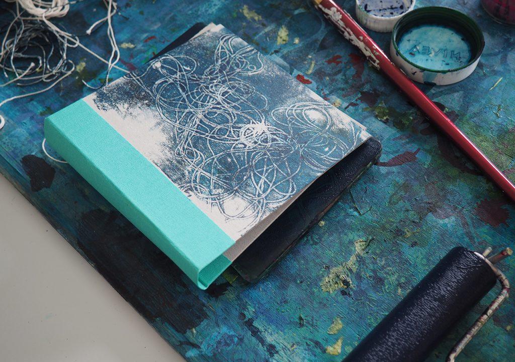 Fragment und Faden, Gelliprint ©muellerin-art-studio