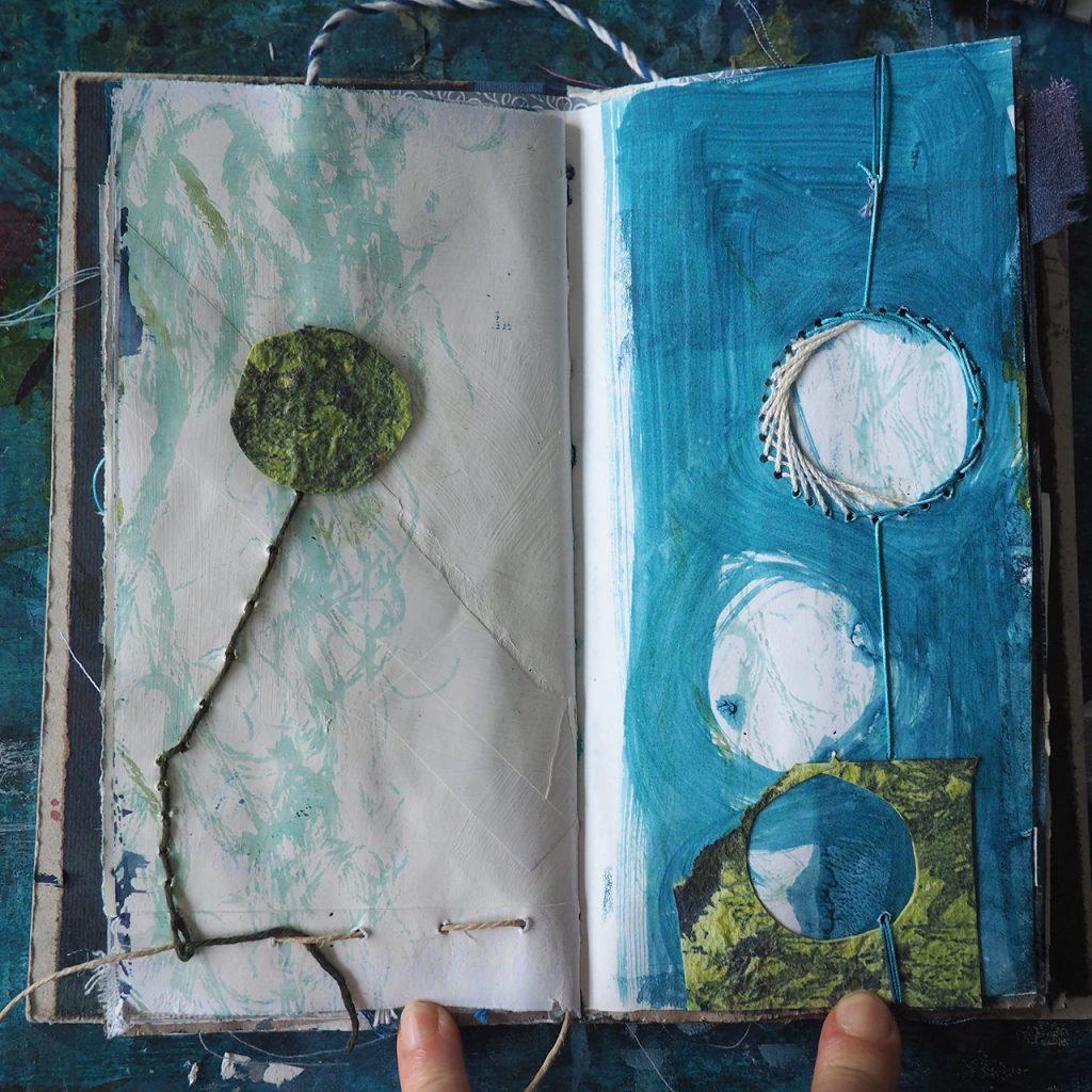 Fragment und Faden, Skizzenbuch ©muellerin-art-studio