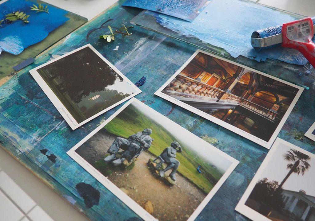 Blaue Sommerpostkarten ©muellerinartstudio