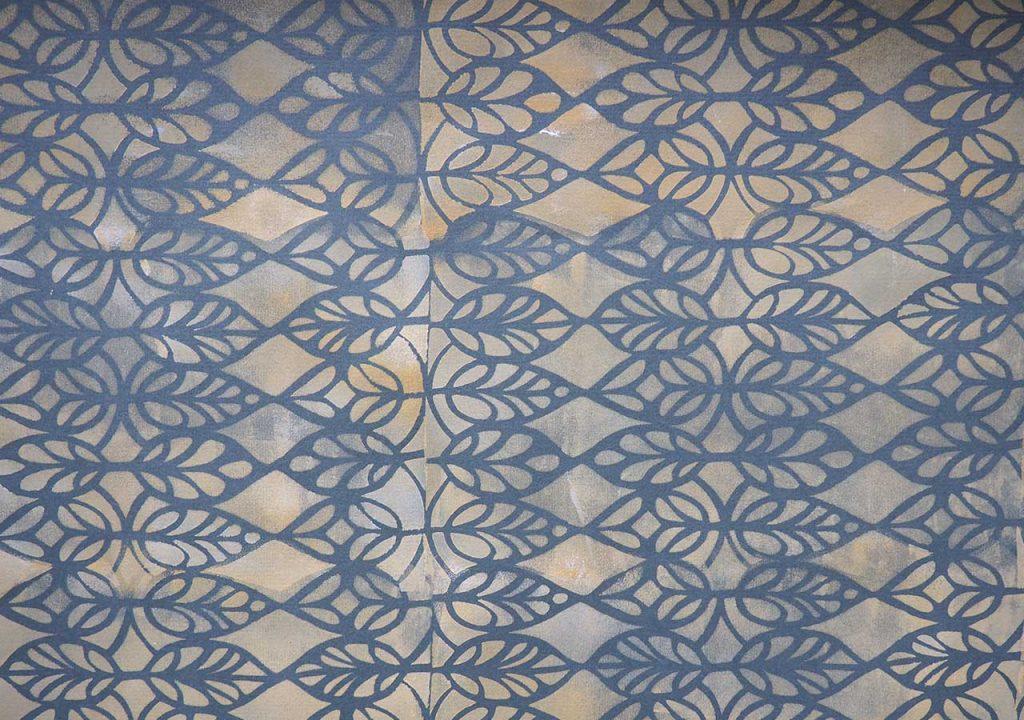 Schablonendruck Blätter nach ©muellerinartstudio