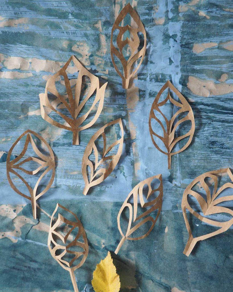 Scherenschnitt Blätter nach ©muellerinartstudio