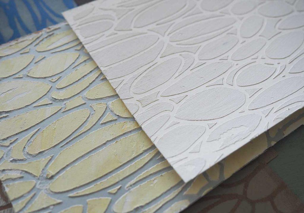 Relief-Schablonendruck nach ©muellerinart
