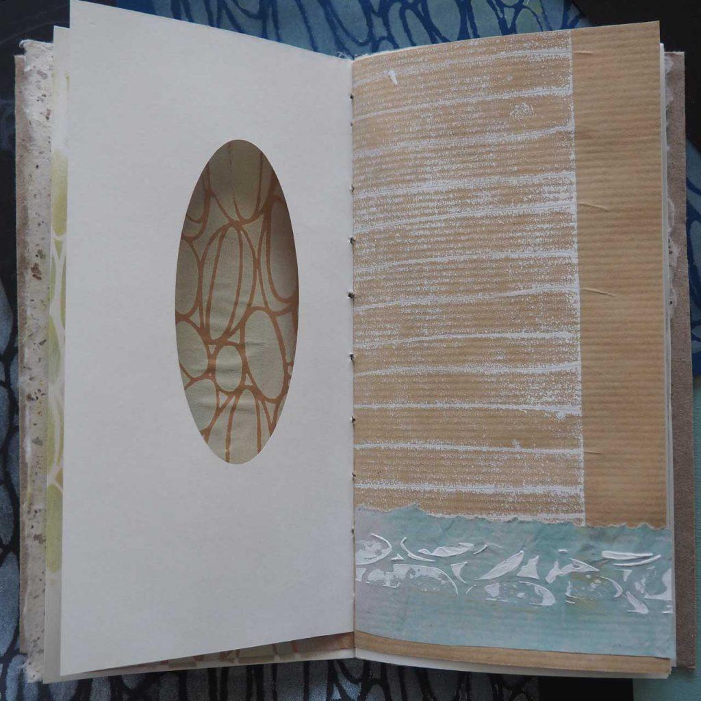 Oval und Struktur Novemberbuch nach ©muellerinart