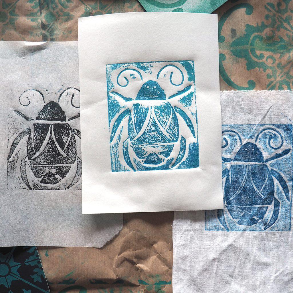 Collagrafie Insekten ©muellerinart