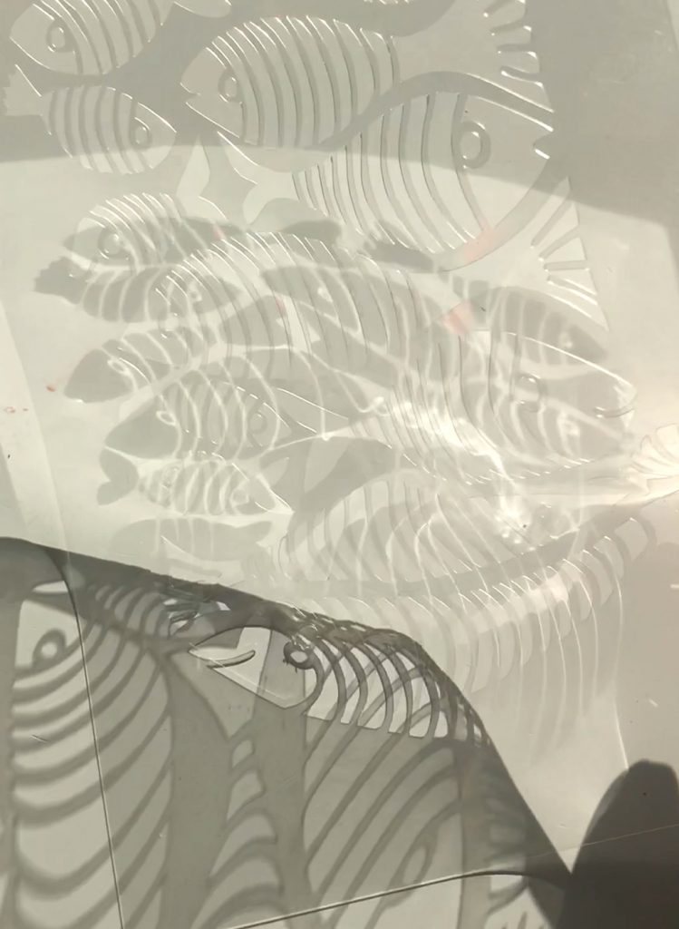 Ringelfisch-Schablone nach ©muellerinart