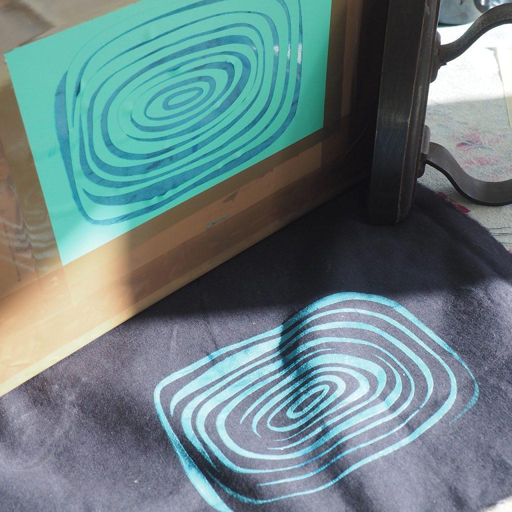 Siebdruck-Ringel nach ©muellerinart