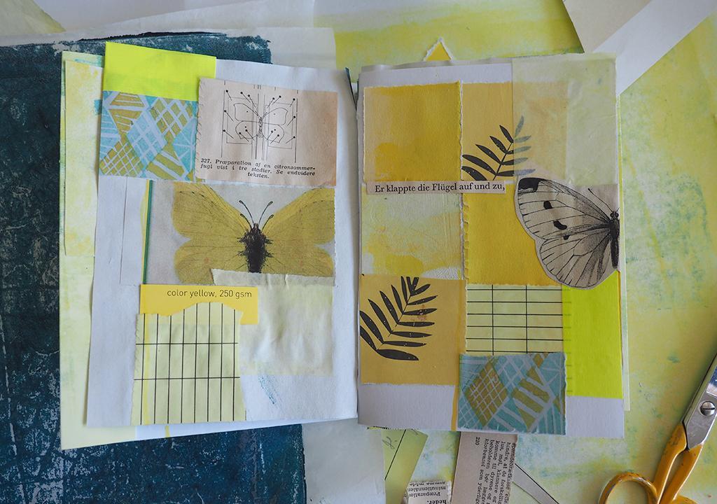 gelbes Frühlingsbuch nach ©muellerinart