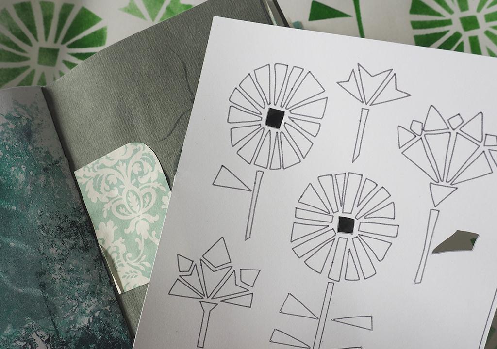 eckiges Blumenmuster nach ©muellerinart