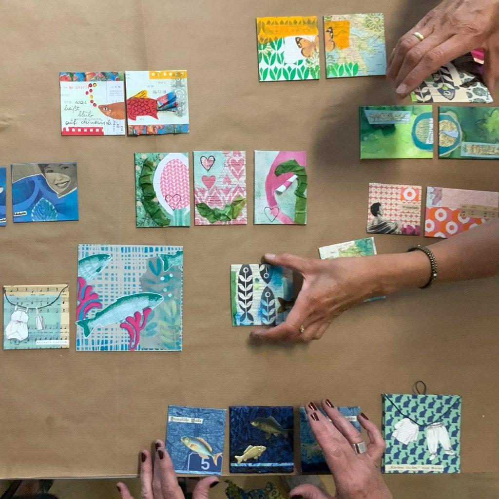 Collage Workshop im Müllerin Art Studio ©muellerinart