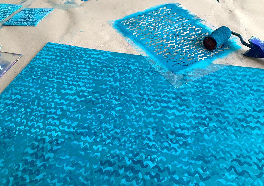 Wellenmuster nach ©muellerinart