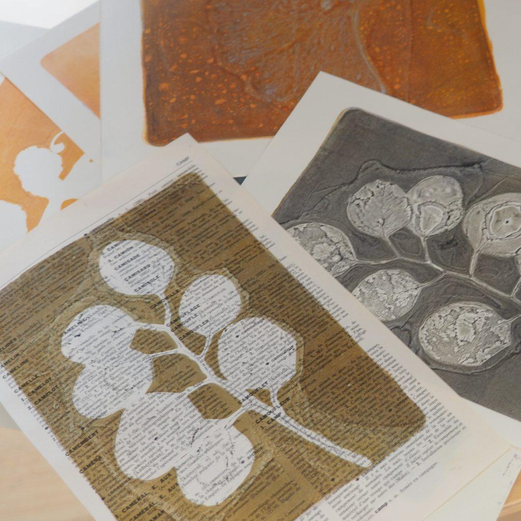 Gelliprint Workshop Pflanzendruck ©muellerinart