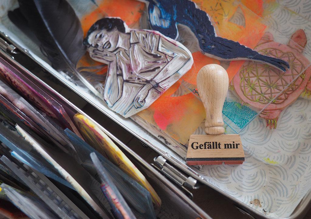 Gelliprint Buch Haupt Verlag Ickler Klink ©muellerinart